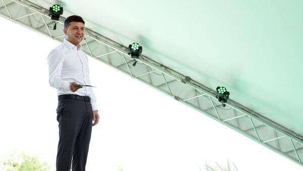 Президент Украины Владимир Зеленский на съезде партии Слуга народа в Киеве