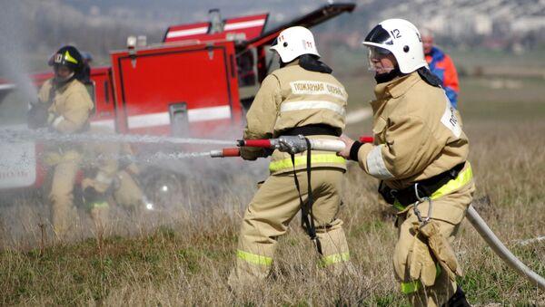 Учения по ликвидации крупного лесного пожара в Севастополе