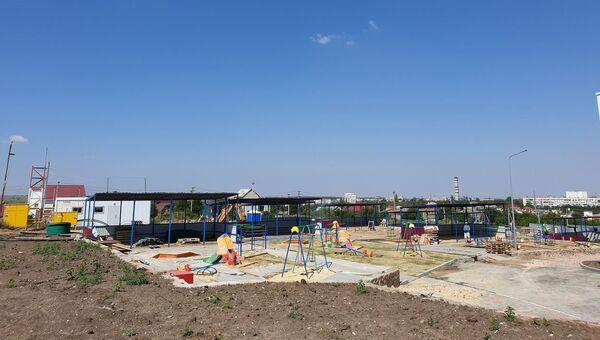 Детский сад в Симферополе, строительство которого ведется в рамках ФЦП