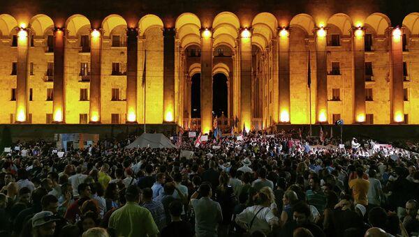 Протесты у здания парламента в Тбилиси. 20 июня 2019