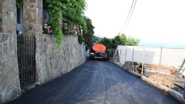 Отремонтированная дорога в Ялте