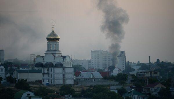 Пожар в частном доме в Севастополе. 21 июня 2019
