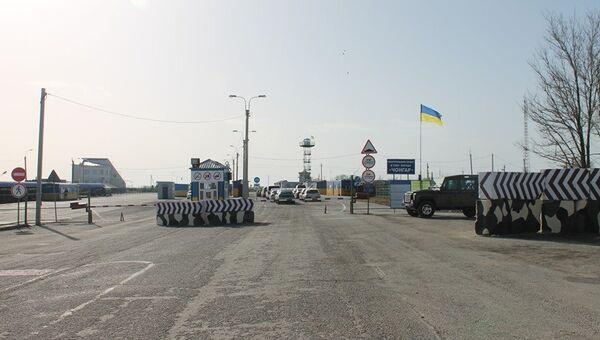 Украинский пункт пропуска Чонгар на границе с Крымом