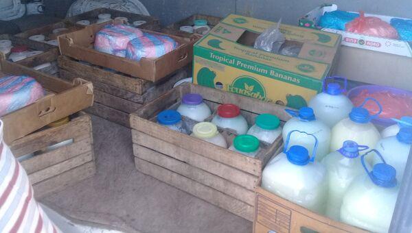 Молочная продукция без документов, выявленная в ходе рейдов в Бахчисарайском районе Крыма