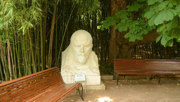 Бюст В.И. Ленина возле Научного музея в Никитском ботаническом саду