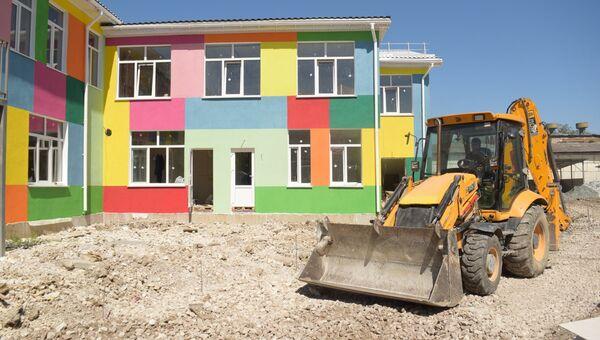 Строительство модульного детского сада в Симферополе. Архивное фото