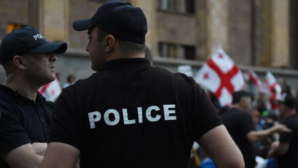 Сотрудники полиции в Тбилиси