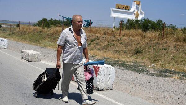 Житель Украины направляется в Крым