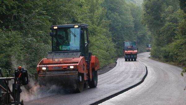 Ремонт дороги Танковое – Оборонное в Бахчисарайском районе