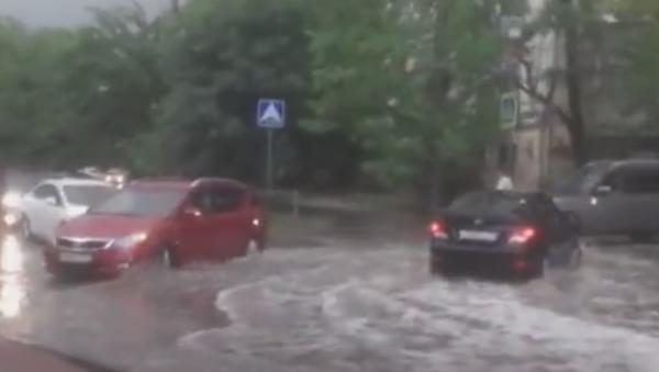 Последствия дождя в Симферополе. 8 июля 2019