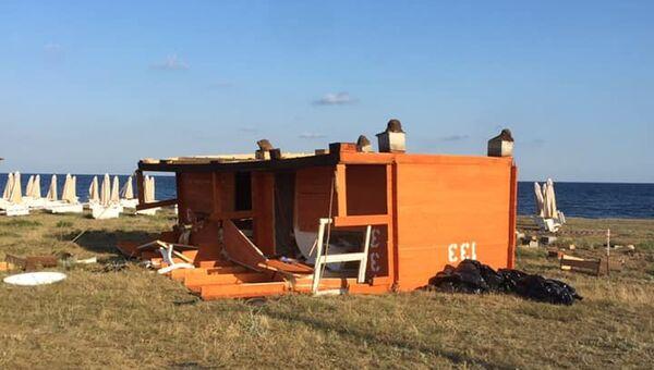 Локальный смерч: подробности происшествия с опрокинутыми бунгало в Оленевке