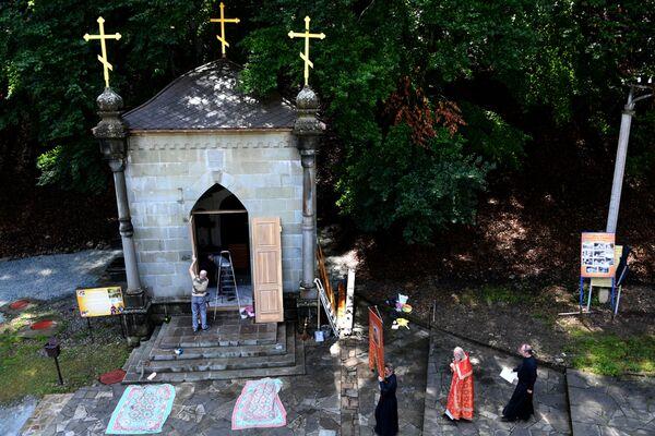 Часовня в Косьмо-Дамиановском монастыре