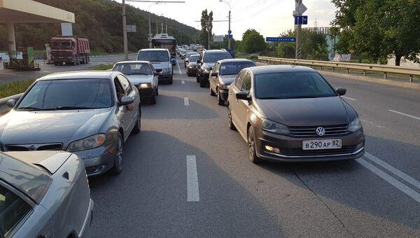 Транспортный затор на Ялтинской трассе