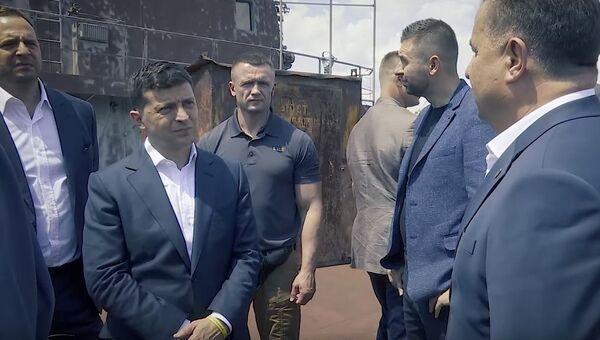 Владимир Зеленский на крейсере Украина