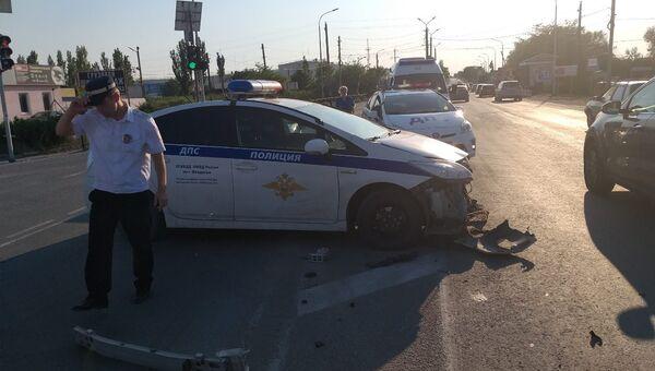В Феодосии произошла авария с участием автомобиля ДПС