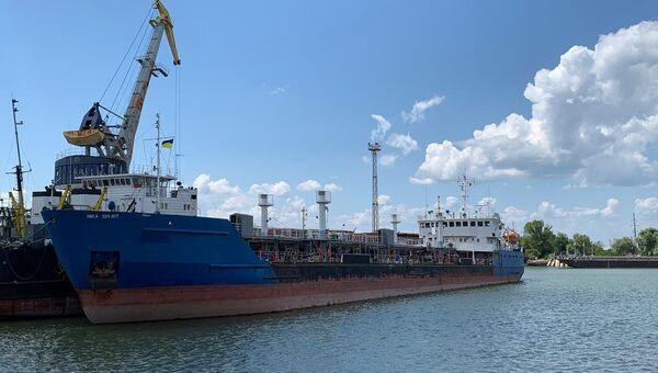 Задержанный СБУ российский танкер NEYMA в порту Измаил