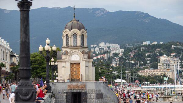 Часовня Новомучеников и исповедников Российских на набережной в Ялте