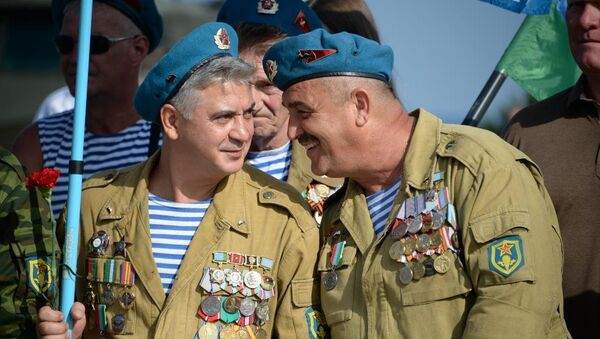 Празднование Дня ВДВ в Севастополе.