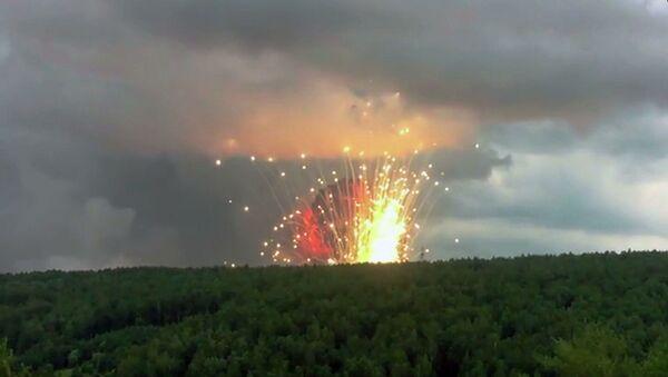 Взрыв в Ачинском районе  Красноярского края. Стоп-кадр видео очевидца