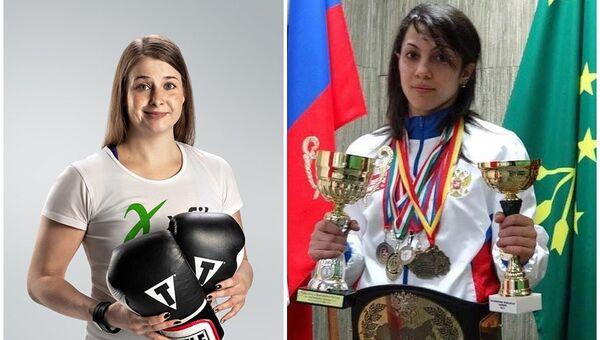 Чемпионка мира по кикбоксингу Фатима Жагупова и вице-чемпионка мира по этому виду спорта Элина Гисмеева