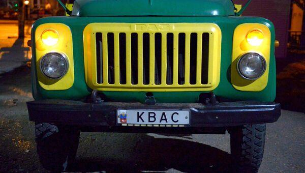 Автомобиль, оборудованный цистерной с квасом в Севастополе