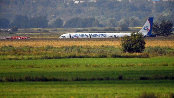 Пассажирский самолет совершил аварийную посадку в Подмосковье
