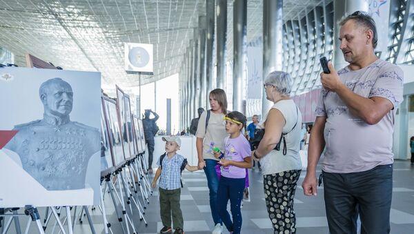 Выставка скульптур Защитникам русской земли