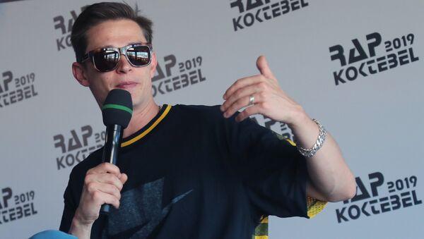 Арт-директор фестиваля российский рэпер Павел Кравцов (Кравц) на пресс-конференции, посвященной открытию фестиваля Rap Koktebel – 2019 в Крыму
