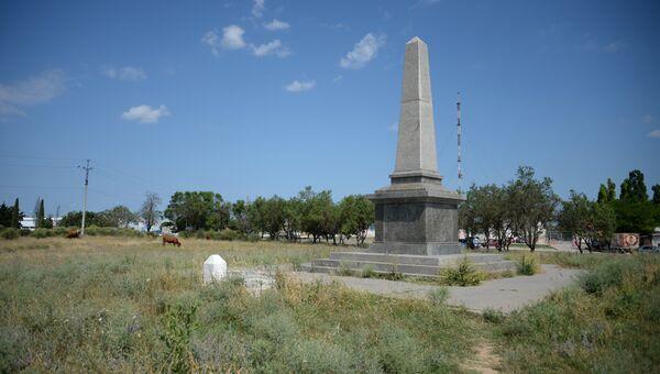 Мемориал в память погибших в Крымской войне английских воинов в поселке Дергачи