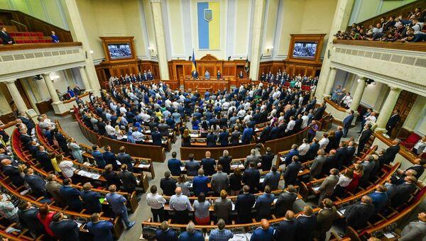 Сессионный зал Верховной Рады Украины