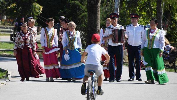 Межрегиональный фестиваль казачьей культуры Крымские тулумбасы
