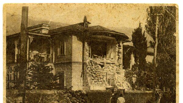 Крымское землетрясение 1927 года. Разрушенный корпус больницы в Кореизе