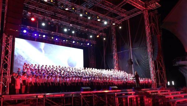 В «Артеке» чествовали победителей конкурсных прослушиваний на роли солистов Детского хора России