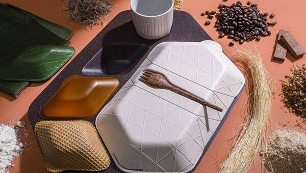 Экологически чистая посуда для применения в самолетах