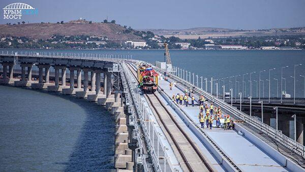 Журналисты испытали железнодорожную часть Крымского моста