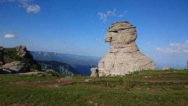 Скала Скиф на Демерджи. Крым