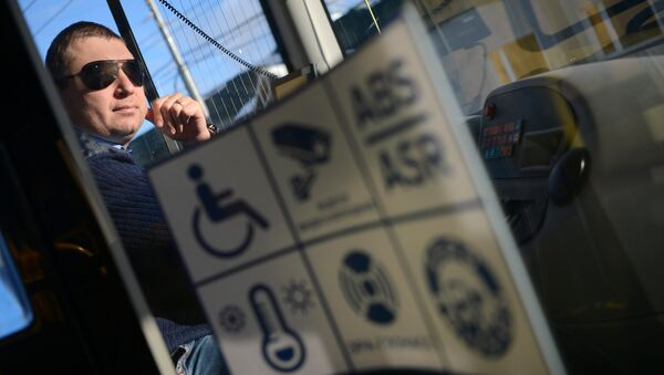 Водитель автобуса. Архивное фото