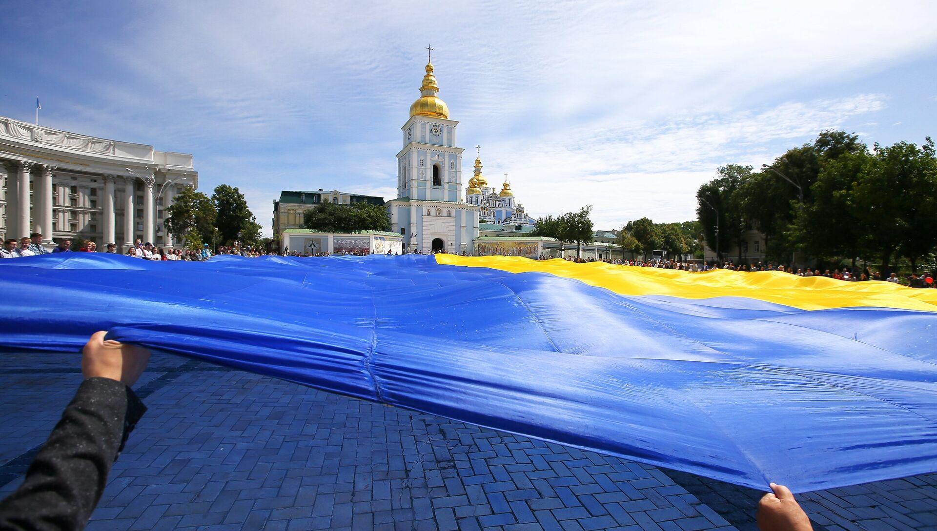 Флаг Украины в Киеве - РИА Новости, 1920, 30.07.2021