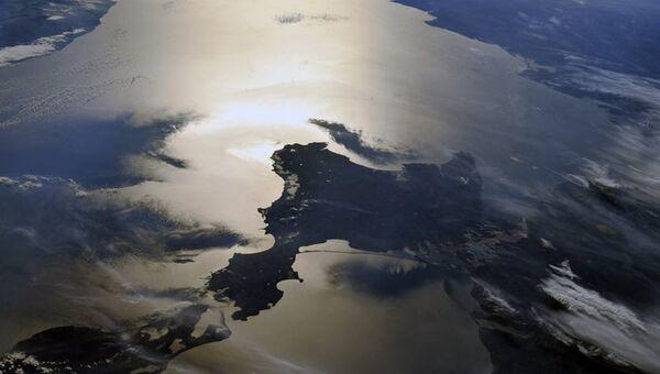 Крым из космоса. Фото космонавта Олега Скрипочки.