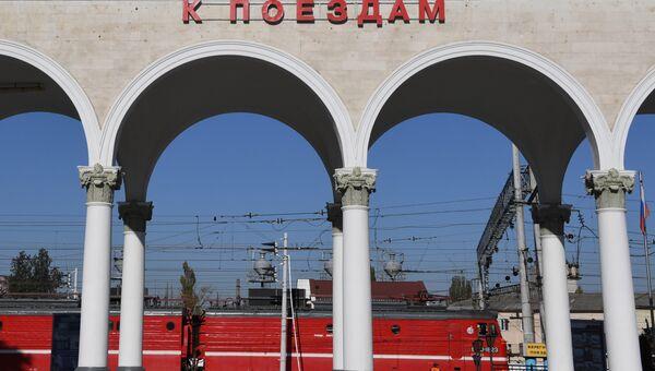 Симферопольский железнодорожный вокзал. Подготовка к запуску поездов по Крымскому мосту.