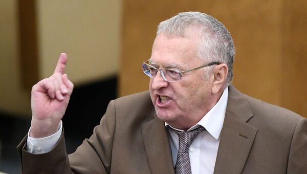 Руководитель фракции ЛДПР в Госдуме Владимир Жириновский. Архивное фото