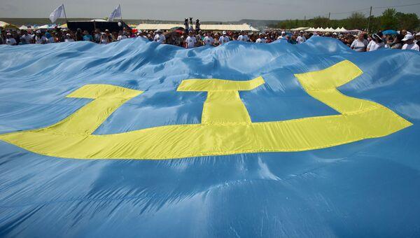 Крымскотатарский флаг. Архивное фото