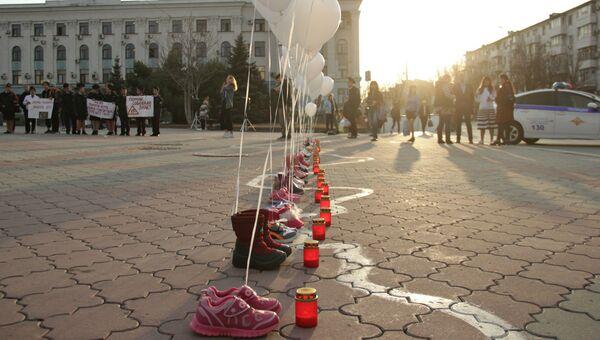Акция памяти жертв ДТП в Симферополе