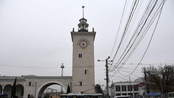 ЖД вокзал в городе Симферополь