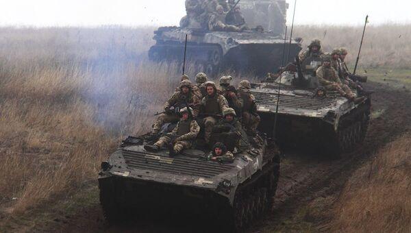 Учения украинских военных вблизи Мариуполя