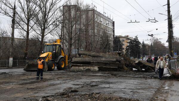 Ремонт моста на улице Гагарина Симферополь