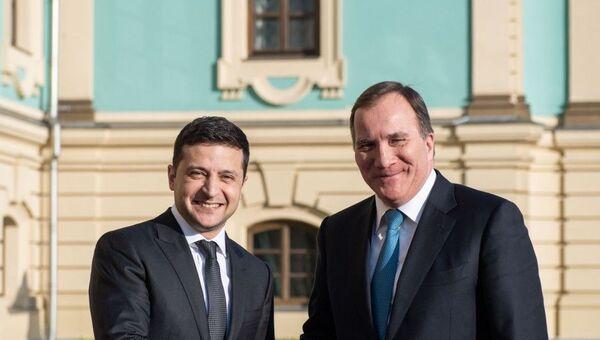 Встреча президента Украины Владимира Зеленского с премьер-министром Королевства Швеция Стефаном Левеном