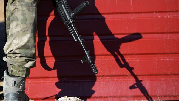 Бойцы Росгвардии на полигоне, стрельбы в Симферополе