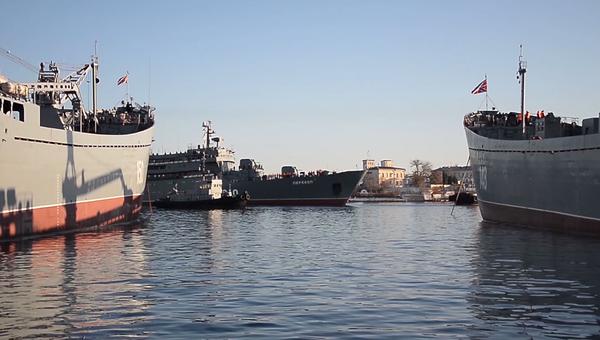 Перекоп в Севастополе: видео захода в порт