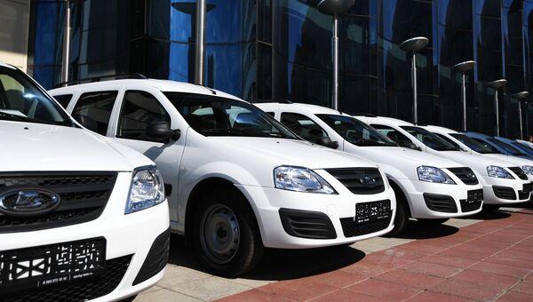 Вручение автомобилей Лада-Ларгус многодетным семьям